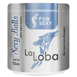 SEXY BALLS LA LOBA BOLINHA FUNCIONAL  KIT 3 FRASCOS  POR